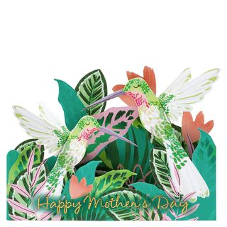 Pop out hummingbird Mother's Day card main image