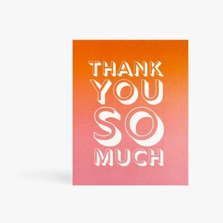 Pink ombre thank you card main image
