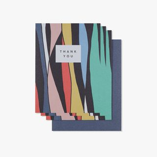 Abstract stripe thank you cards - pack of 10 main image