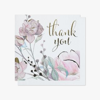 Floral blossom thank you cards main image