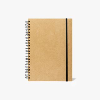 A4 Kraft ruled notebook with dividers main image