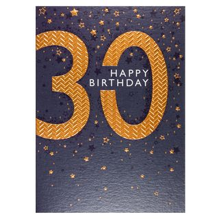 Copper embossed 30th birthday card main image