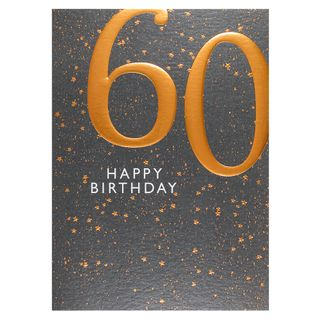 Copper embossed 60th birthday card main image