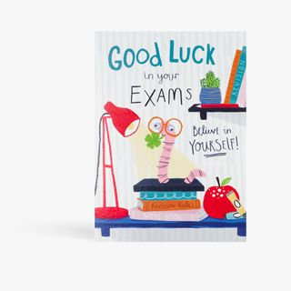 Book worm good luck in your exams card main image