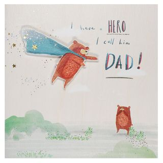 Hero called Dad Father's day card main image