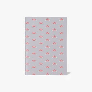 A5 grey floral notebook main image