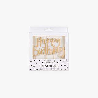 Ginger Ray for Paperchase gold happy birthday candle main image