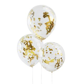 Ginger Ray for Paperchase gold confetti-filled balloons  main image