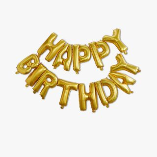 Ginger Ray for Paperchase gold birthday balloon bunting main image
