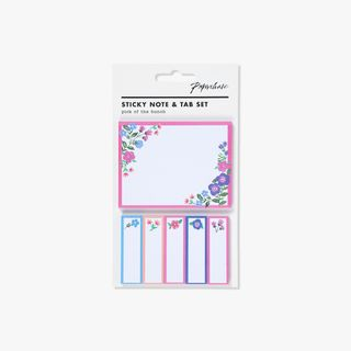 Floral sticky note and tab set main image