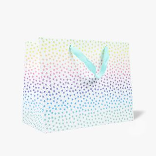 Large ombre pastel star gift bag main image