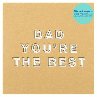 Brown you're the best Father's day card main image