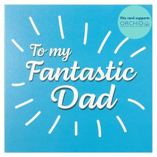 Blue fantastic dad Father's day card main image