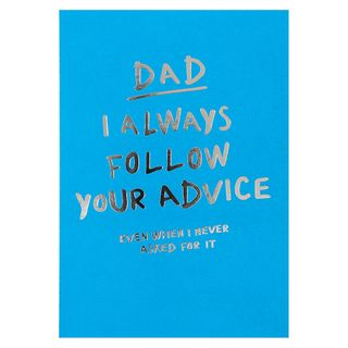 Follow your advice Father's day card main image
