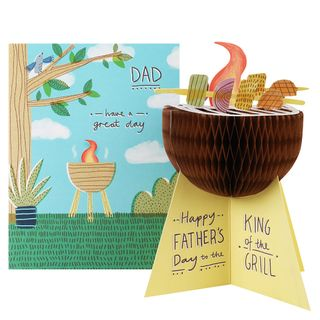 3D king of the grill Father's day card main image