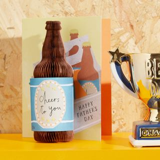 3D beer bottle Father's day card main image