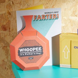 Pop up noisy whoopee cushion Father's day card main image