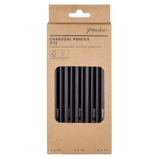 Charcoal pencils - pack of 12 main image