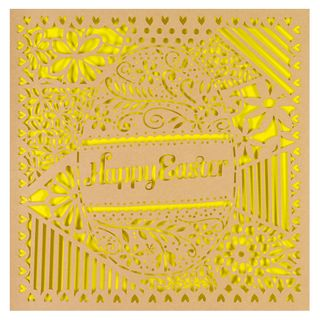 Kraft cut out egg Easter card main image