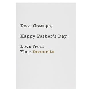 From your favourite grandpa Father's day card main image