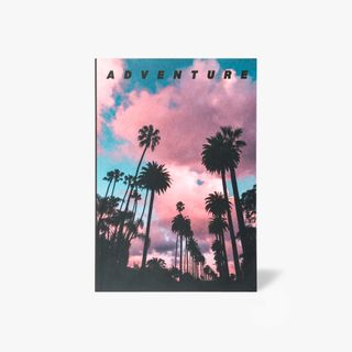 A5 palm trees adventure notebook main image