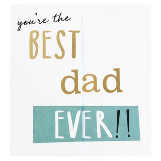 Fold out best dad ever Father's Day card main image