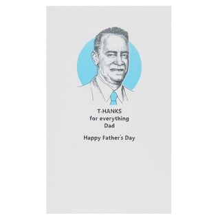 T-hanks for everything Father's day card main image