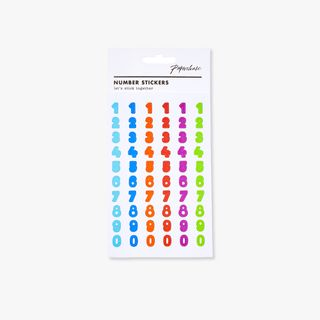 Coloured number stickers main image