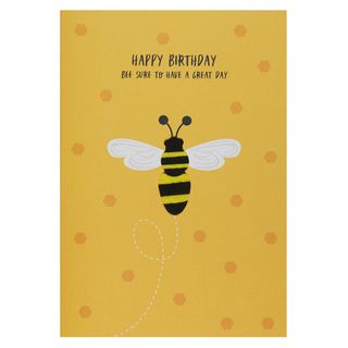 Bee sure to have a great day birthday card main image