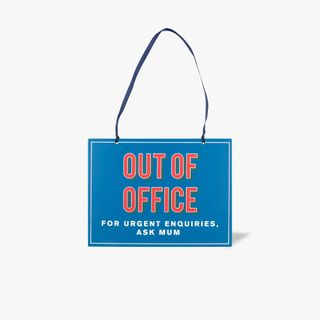 Out of office, ask mum hanging sign main image