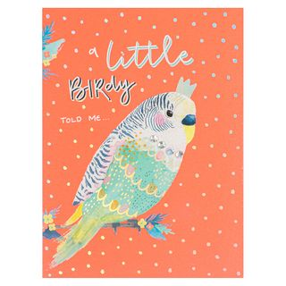 A Little Birdie Told Me Birthday Card  main image