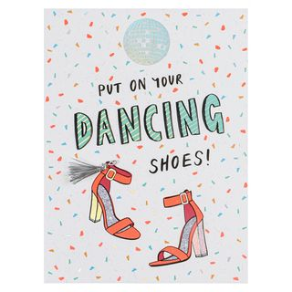 Put on your dancing shoes birthday card  main image