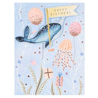 Narwhal happy birthday card   main image
