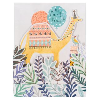 Camel party time birthday card main image