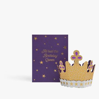 Pop Out 3D Crown Birthday Card  main image
