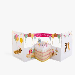 Fold Out Dog Birthday Banner Card  main image