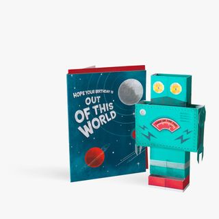 Pop Out 3D Robot Birthday Card  main image