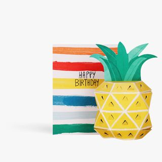 Pop Out 3D Pineapple Birthday Card  main image