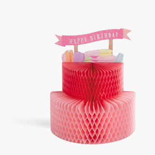 Pop Out 3D Honeycomb Cake Card  main image