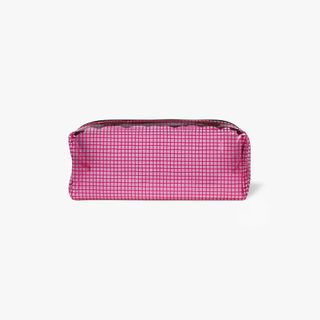 Neon Pink Clear Grid Pencil Case  main image