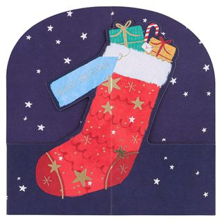 Pop up stocking Christmas cards - pack of 6 main image