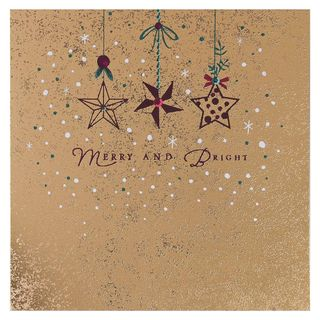 Merry and bright Christmas cards - pack of 6 main image