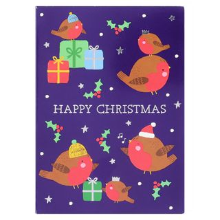 Robin and presents Christmas cards - pack of 8 main image