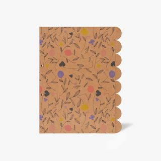 8-Part A4 Floral Kraft Subject Dividers  main image