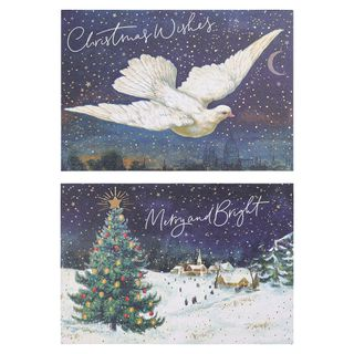 Dove and tree Christmas cards - pack of 10 main image