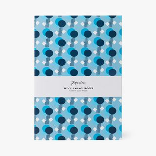 A4 Set of Two Blue Mix Notebook main image