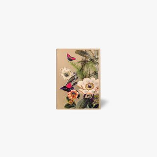 A6 Magnetic Tropical flowers Gold Notebook  main image