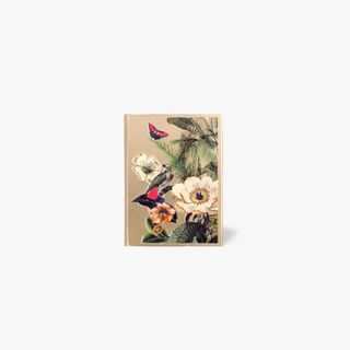 A7 Magnetic Tropical Flowers Gold Notebook main image