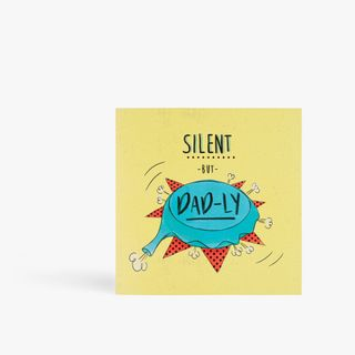 Silent but dadly whoopee cushion birthday card main image