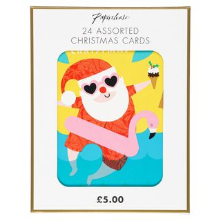 Small assorted designs Christmas cards - pack of 24 main image
